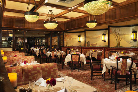 Dining room of House of Prime Rib in San Francisco, CA