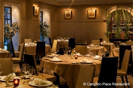 Dining room of Campton Place Restaurant in San Francisco, CA