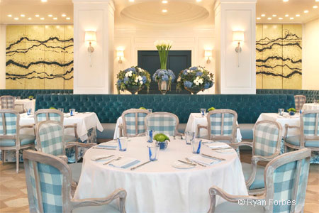 Dining room of The Belvedere in Beverly Hills, CA
