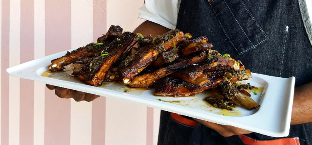 Ribs available at Charcoal Venice for Super Bowl Sunday