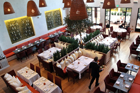 Dining room of Fig & Olive in West Hollywood, CA