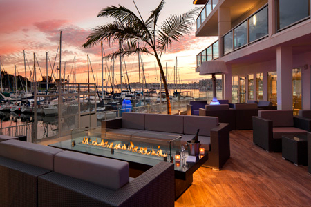 Patio of SALT Restaurant & Bar in Marina del Rey, CA