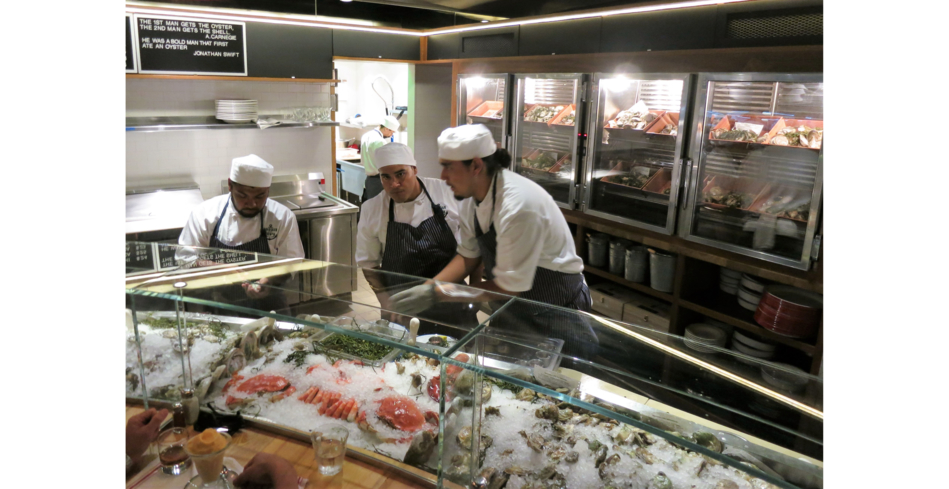 Connie and Ted's offers an abundance of raw bar offerings and chilled seafood
