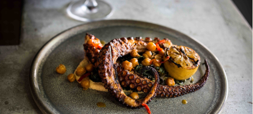 Grilled octopus at AR Cucina in Culver City, CA (Photo credit: Rob Stark)