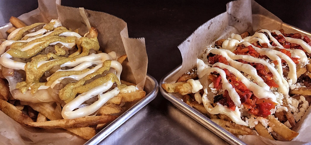 The Patriots and Falcons fries at Haché LA