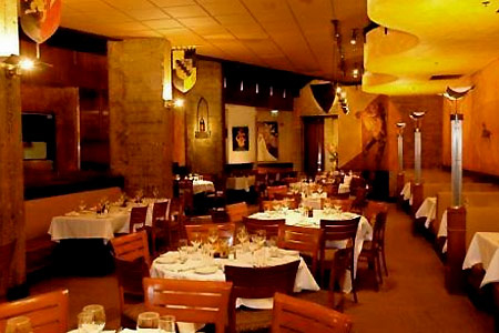 Dining room of Palio d'Asti in San Francisco, CA