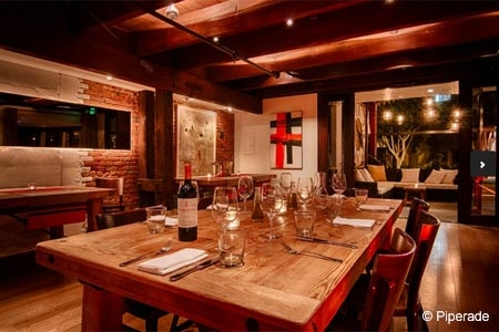 Dining room of Piperade in San Francisco, CA