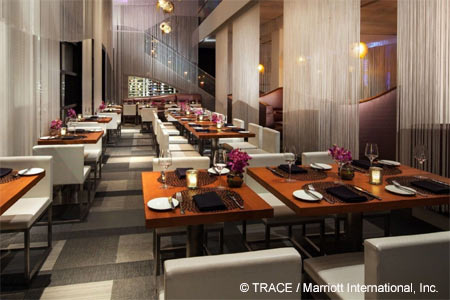 Dining room of Trace in San Francisco, CA