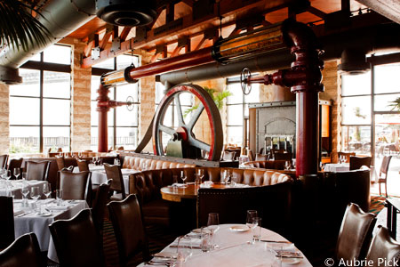 Dining room of EPIC Steak in San Francisco, CA