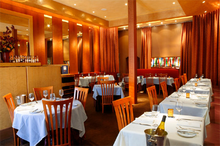Dining room of La Folie in San Francisco, CA