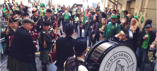 St. Patrick's Day party at The Irish Bank in San Francisco, CA