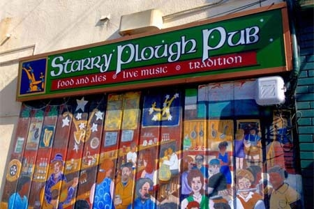 Exterior of The Starry Plough Pub in Berkeley