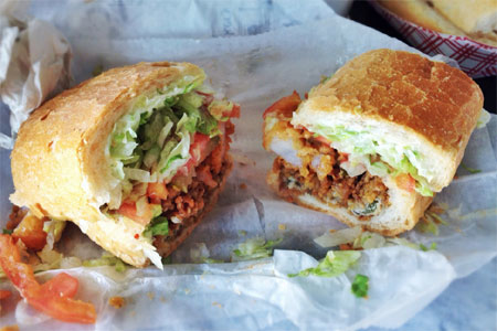 Parkway Bakery & Tavern leads the pack in fried shrimp po' boys.