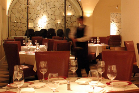 Dining room of Delmonico Steakhouse in Las Vegas, NV