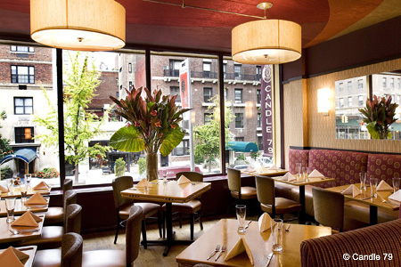 Dining room of Candle 79 in New York, NY