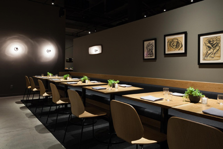 Dining room of Cosme in New York, NY