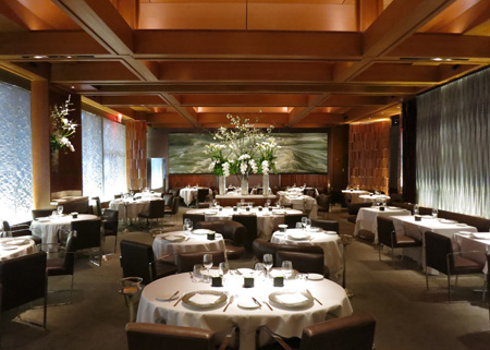 Dining room of Le Bernardin in New York, NY