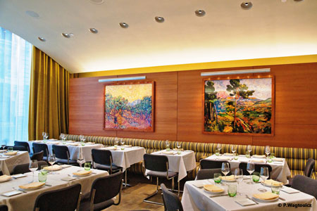 Dining room of Boulud Sud in New York, NY