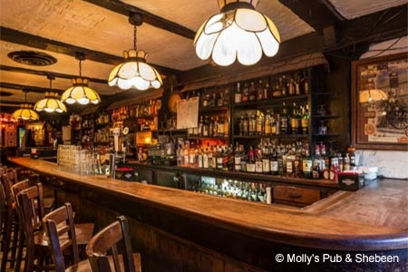 Interior of Molly's Pub & Shebeen in New York, NY