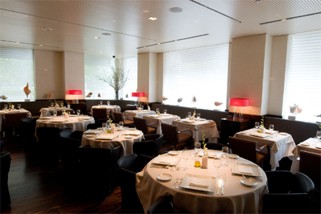 Dining room of Marea in New York, NY