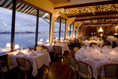 Dining room of The Water Club in New York, NY