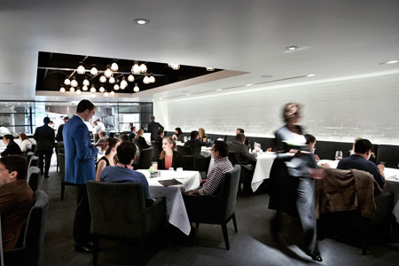 Dining room of The Pass in Houston, TX