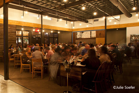 Dining room of Underbelly in Houston, TX