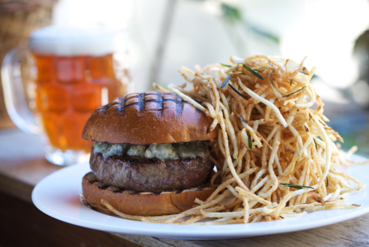 Burger at The Spotted Pig in New York, NY (Photo credit: Clay Williams)