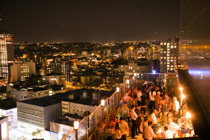 The panoramic view of the city from Kimoto Rooftop Beer Garden