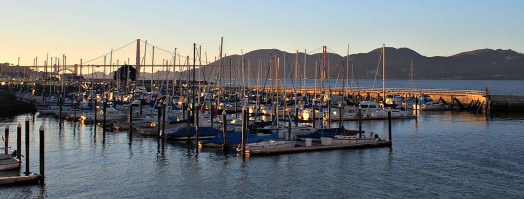 A view of the Marina from Greens, SF
