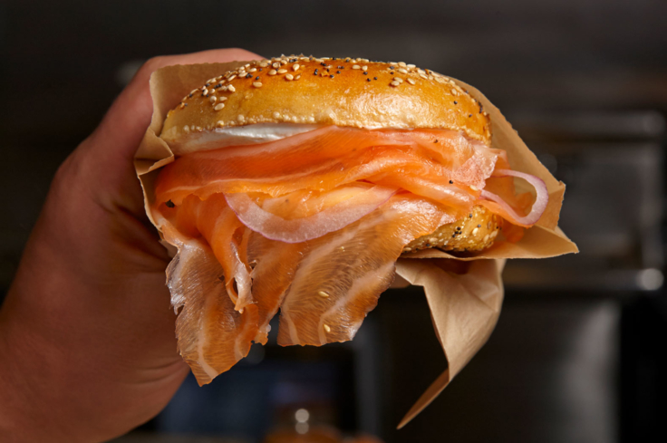 Wexler's Deli: Bagel and lox sandwich