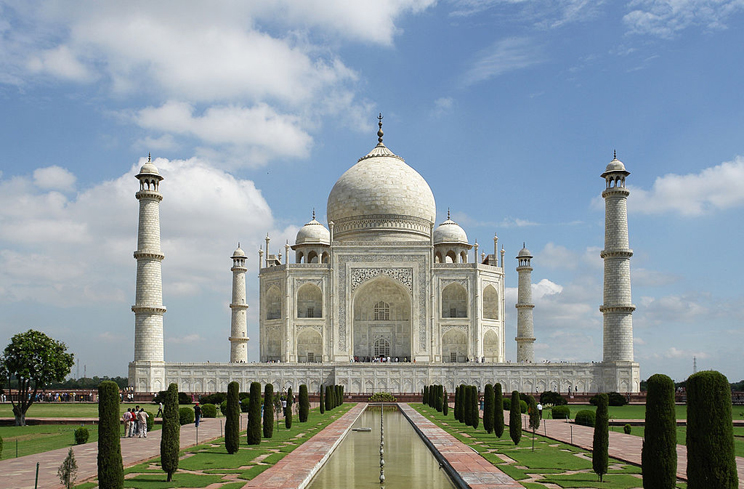 The Taj Mahal is one of the most recognizable structures on the planet