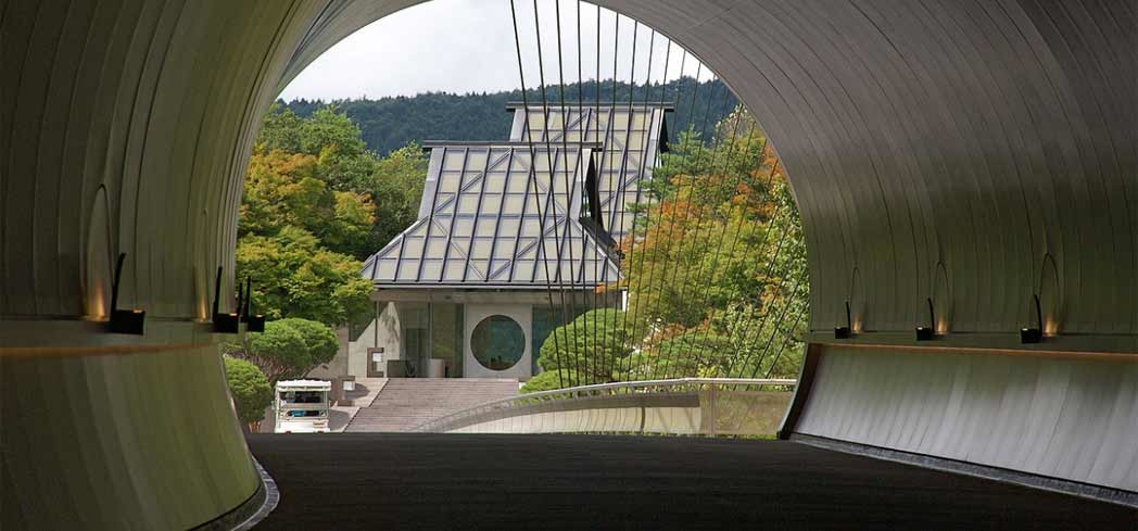 The tunnel leading to Miho Museum in Kyoto