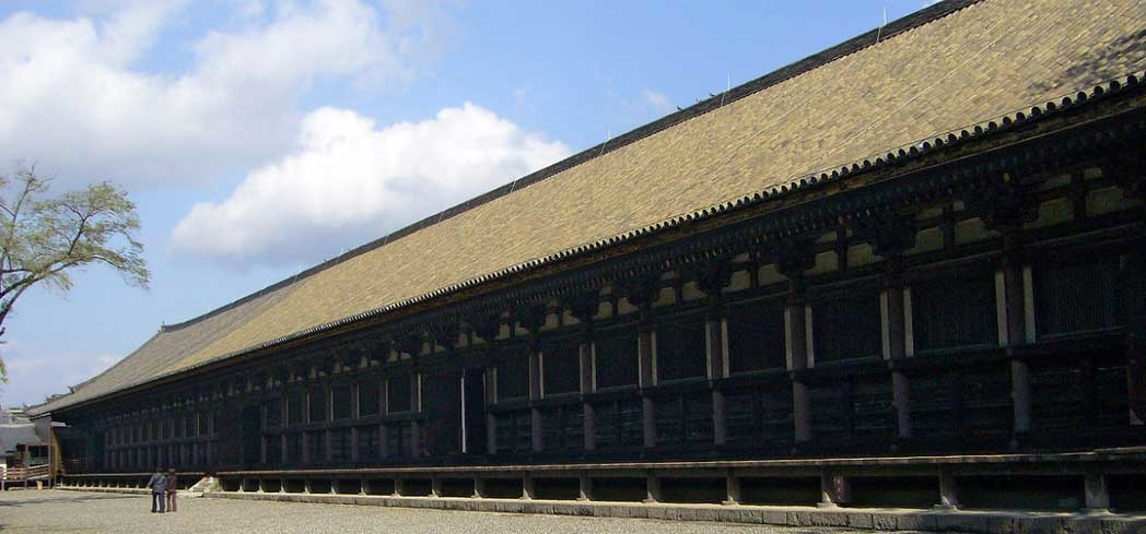 Sanjusangen-do Temple in Kyoto is the world's longest wooden building
