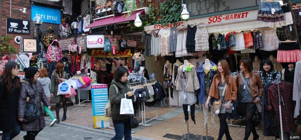 Shopping in Tokyo's Harajuku District