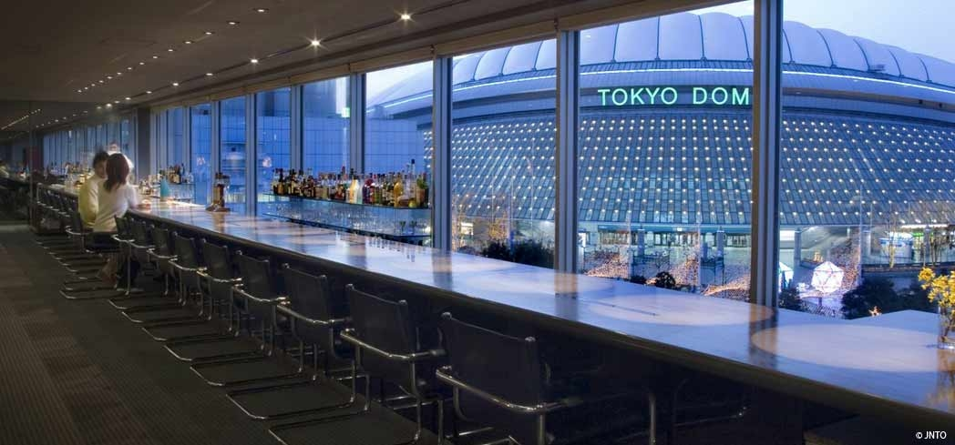 A view of the Tokyo Dome from a lounge