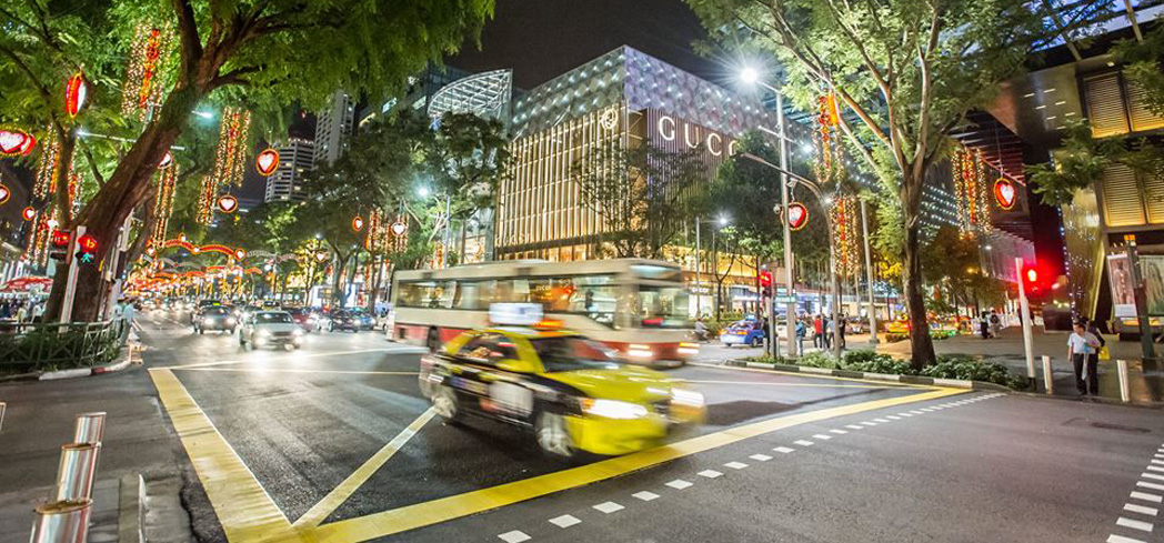 Orchard Road at night