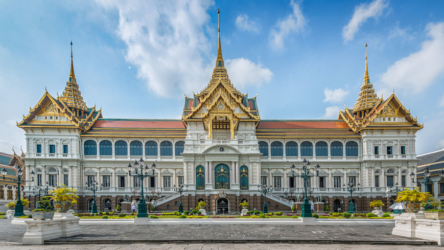 The exterior of the Grand Palace in Bangkok
