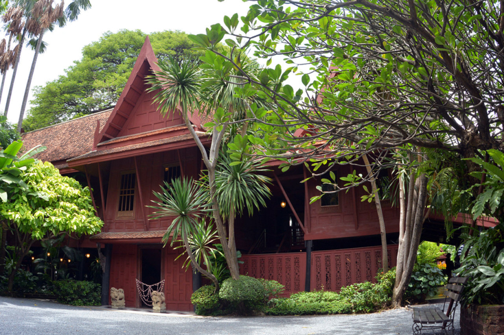 An exterior view of the Jim Thompson House