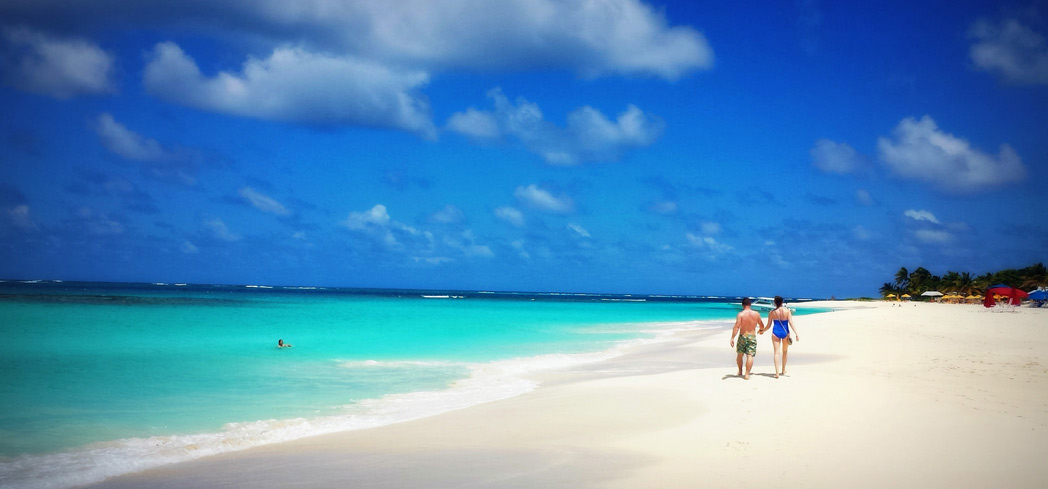 A beach on Shoal Bay, Anguilla