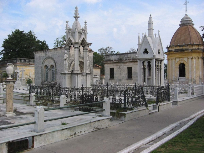 Mausoleums at the Cementerio de Cristóbal Colón in Havana, Cuba