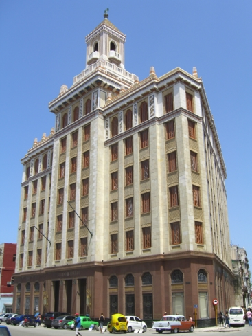 The exterior of Edificio Bacardí in Havana, Cuba