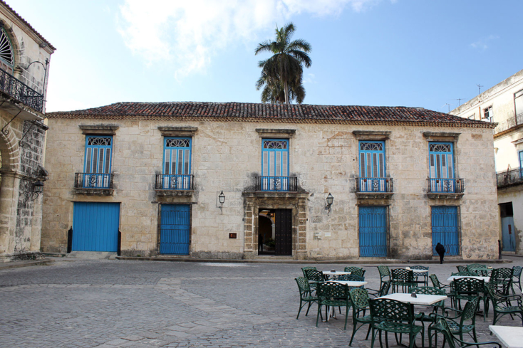 The exterior of the Museo de Arte Colonial at the Plaza de la Catedral in Old Havana