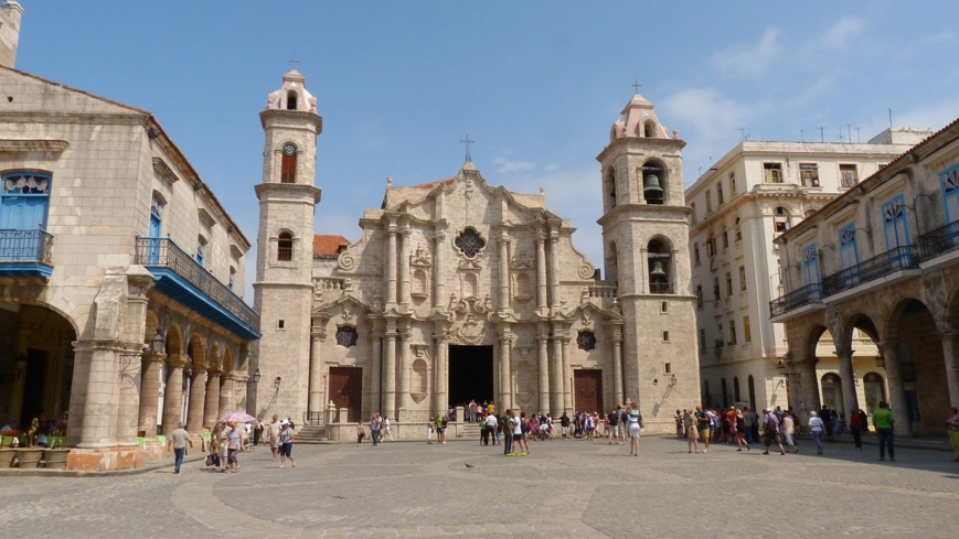 The Catedral San Cristóbal de la Habana at the Plaza de la Catedral