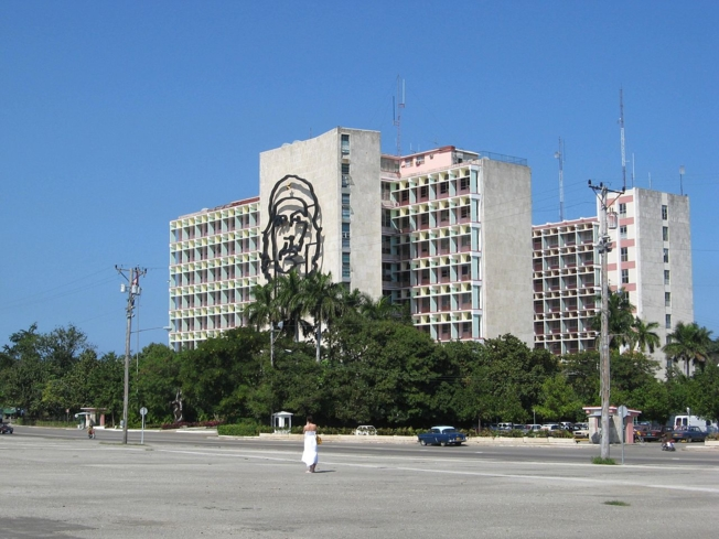 The Ministerio del Interior, across from the Plaza de la Revolución