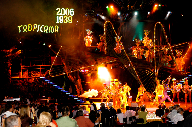 Enjoy the colorful shows put on at the Tropicana in Havana, Cuba