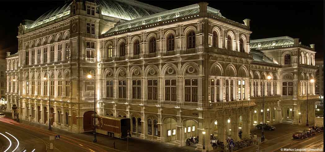 A rear view of the Vienna State Opera House