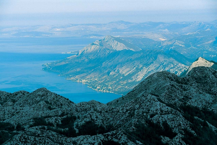 A view of Biokovo, one of the highest mountains in Croatia
