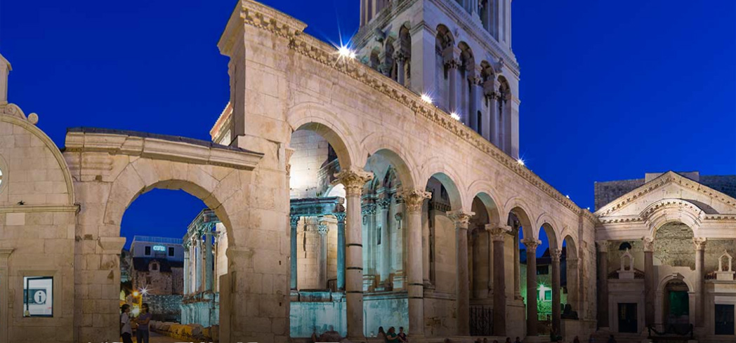 Tour the grounds of the ancient Diocletian Palace in Split, Croatia