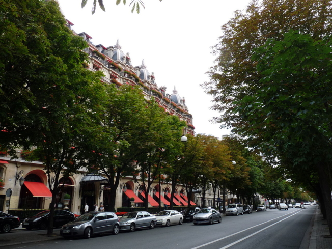 A view of Avenue Montaigne in Paris, France